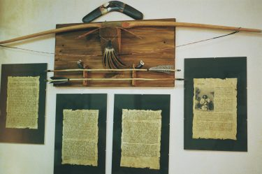 Chief Seattle's speech & handmade archery set by Hilario