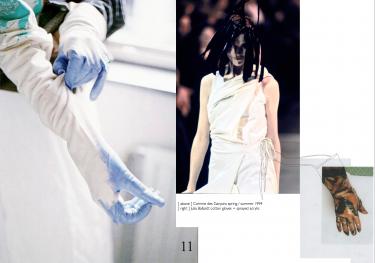 Comme des Garçons (1994) + Julia Ballardt cotton gloves