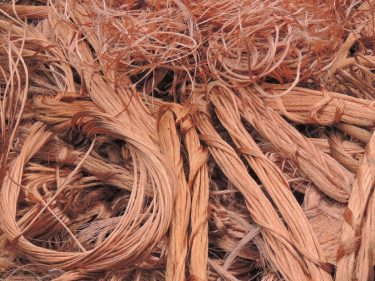Copper scrap used to create the set