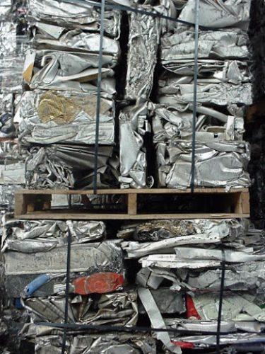 Aluminium scrap factory in Spain