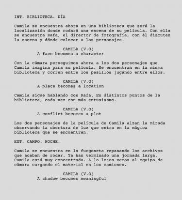 Script – Library Scene