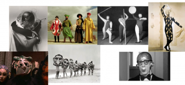 Costume references / KUBRICK+SLEEPERS BY W.A+BAUHAUS+JEAN COCTEAU+THE FALL/
