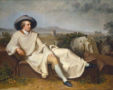 Goethe in the Roman Campagna, by Johann Heinrich Wilhelm Tischbein