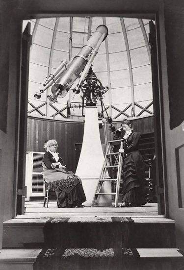 Maria Mitchell in her observatory at Vassar Collage, 1877